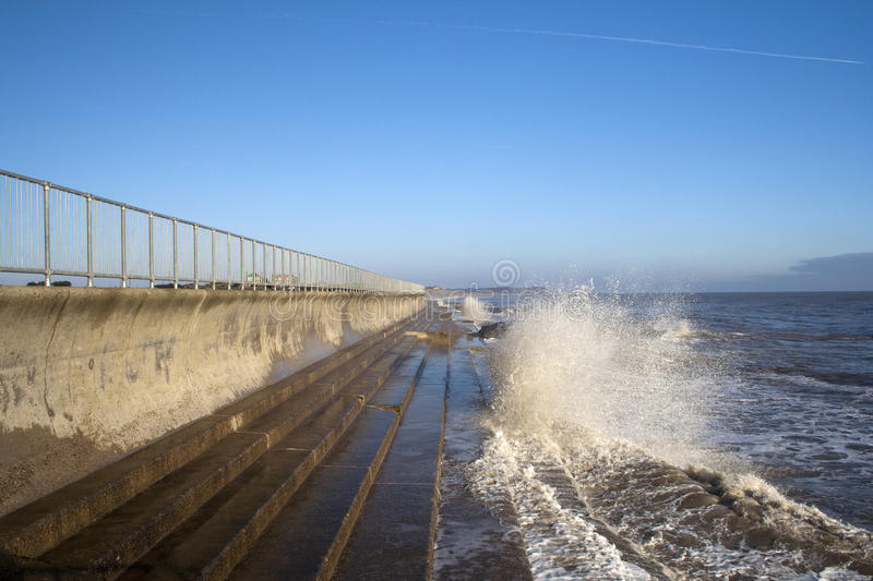 Sea Wall At Southwold, Suffolk, England Royalty Free Stock Images