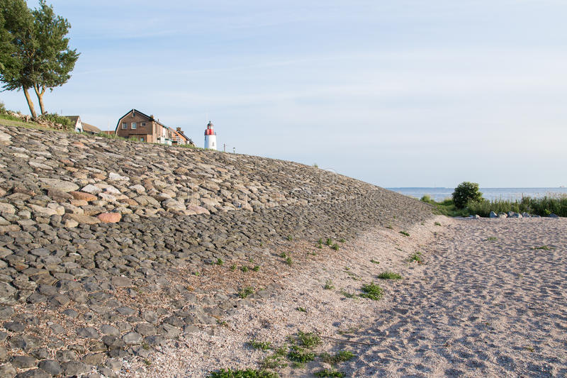 Download Sea Wall Of Urk, A Dutch Fishing Village Royalty Free Stock Photo - Image: 25396225