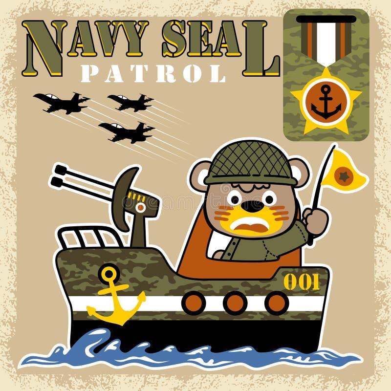 Sea war cartoon vector stock illustration