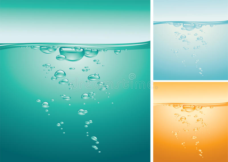 Download Sea water stock vector. Illustration of round, vial, surface - 25100869