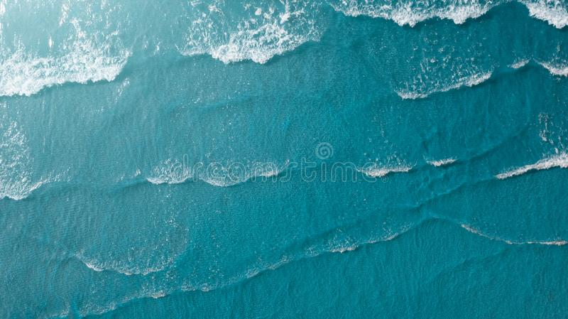 Sea surface aerial view royalty free stock image