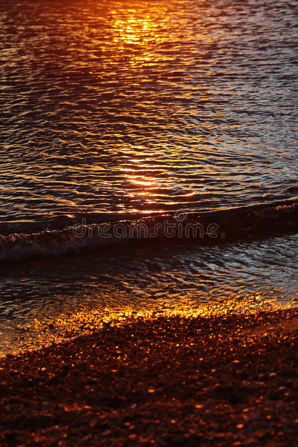 Sea water in twilight royalty free stock photography