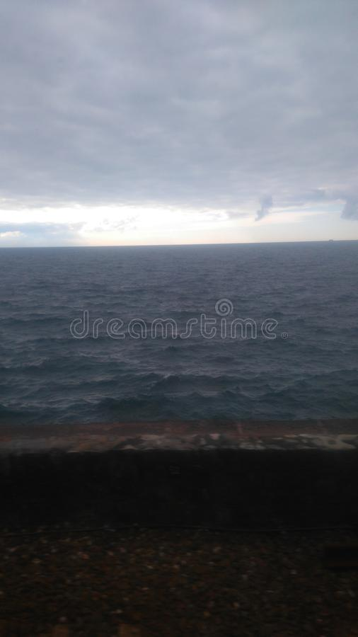 Sea water view stock photography