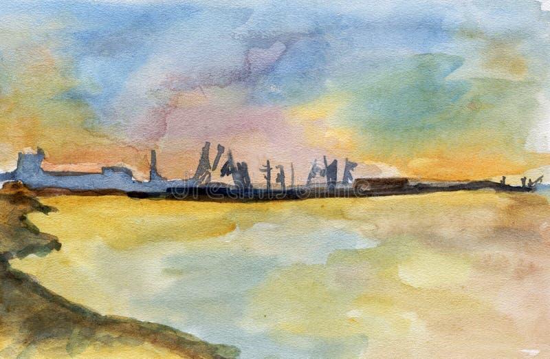 Download Sea watercolor stock illustration. Image of watercolor - 5119650
