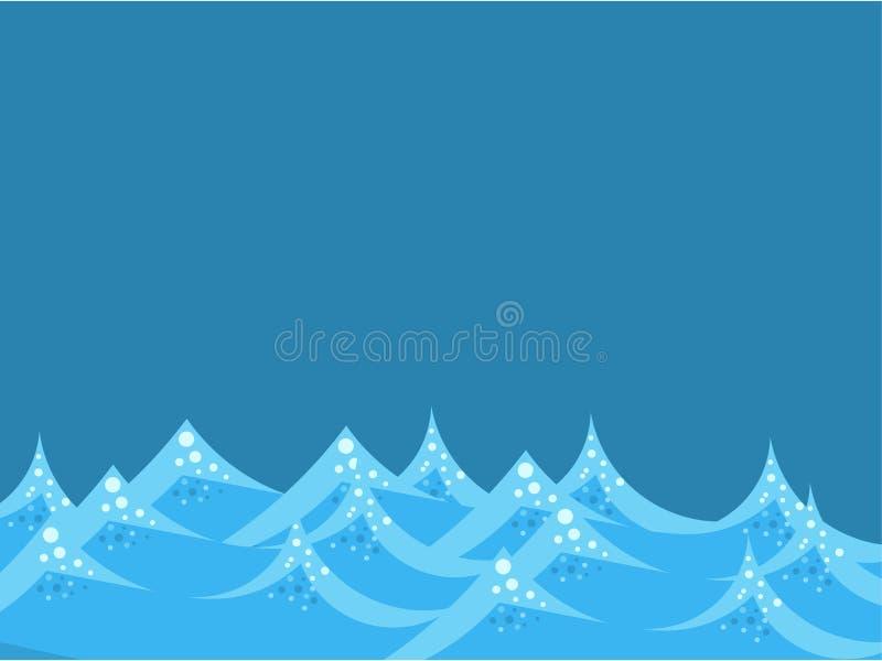 Sea waves vector illustration