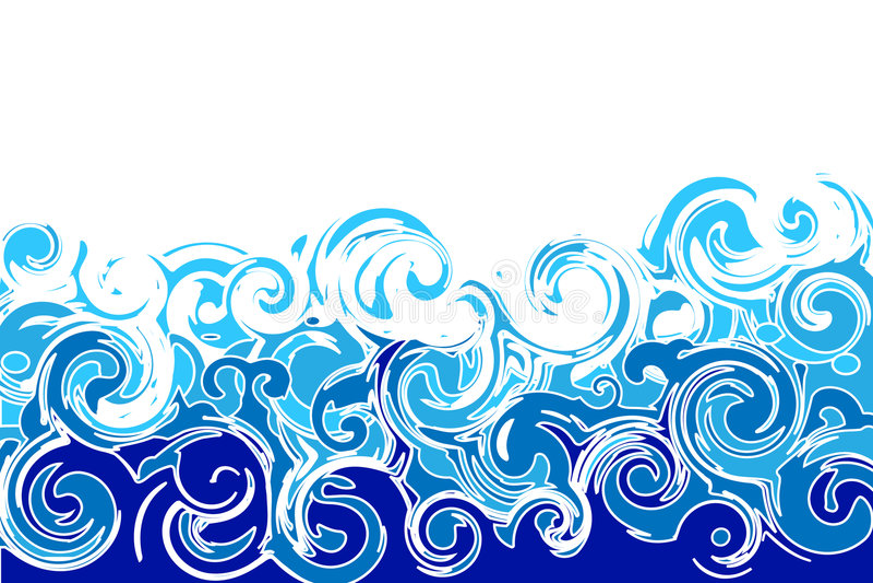 Sea waves stock illustration