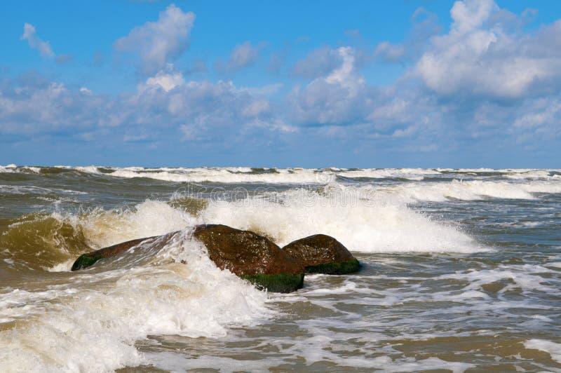 Download Sea Waves 4 stock image. Image of beach, rock, black - 26560843