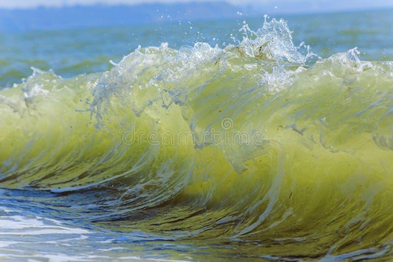 Sea waves. Balck Sea, Crimea. Ukraine June 2015 stock photos