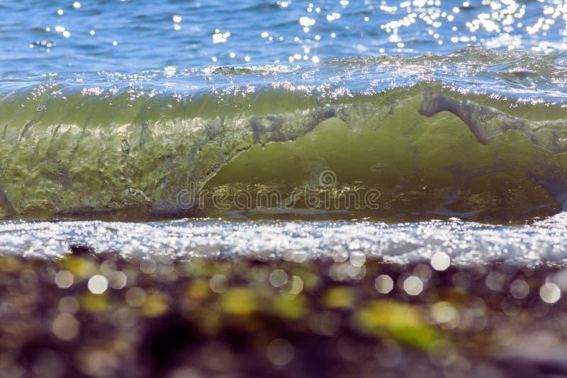 Sea waves. Balck Sea, Crimea. Ukraine June 2015 stock photography
