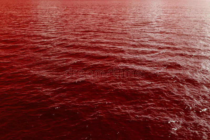 Sea waves of blood stock photos