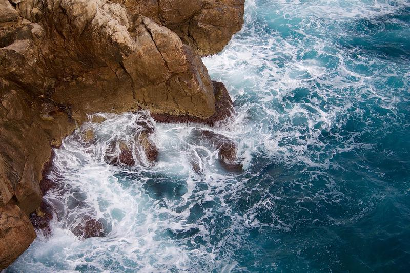 Sea Waves At Bottom Of Cliff Free Public Domain Cc0 Image