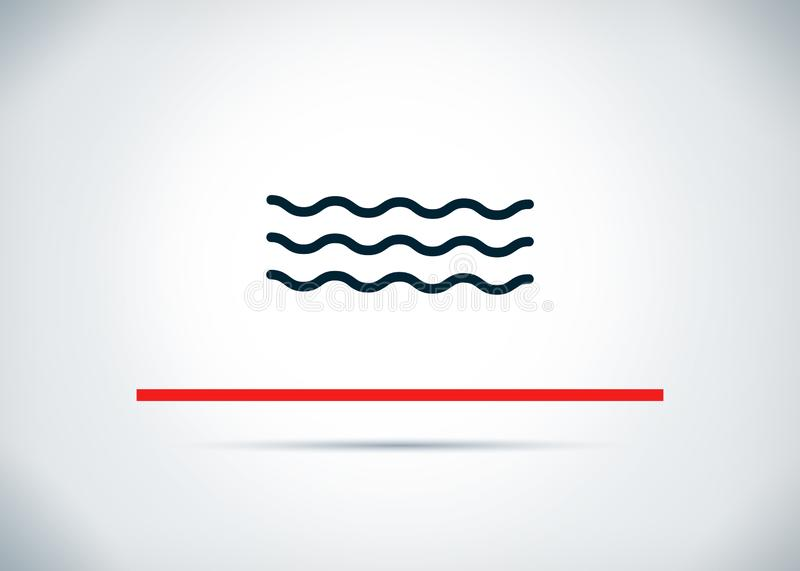 Sea waves icon abstract flat background design illustration. Sea waves icon isolated on abstract flat background design illustration vector illustration