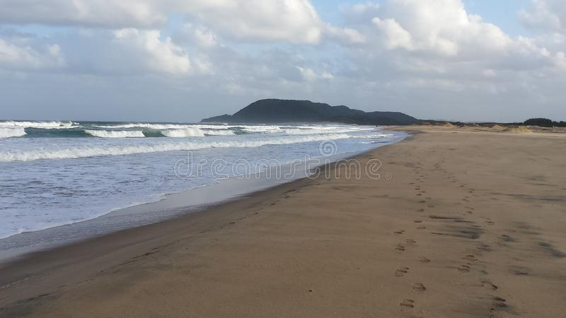 Sea with waves near a beach in south africa royalty free stock photo