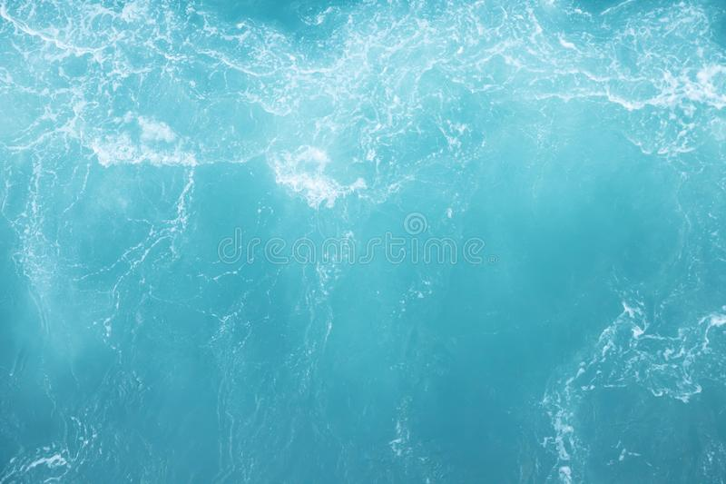 Sea  Waves in ocean wave Splashing Ripple Water. Blue water background. Leave space for writing messages. royalty free stock photo