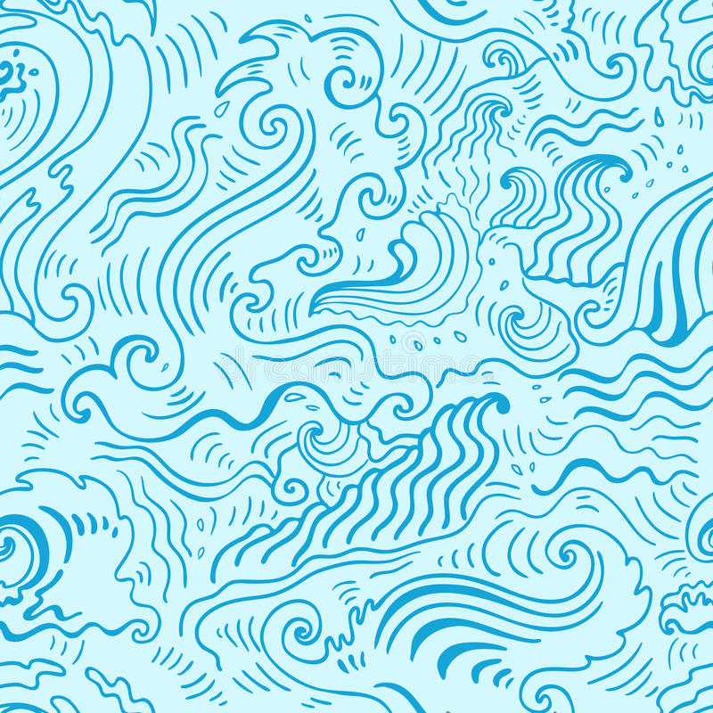 sea waves seamless background stock vector illustration