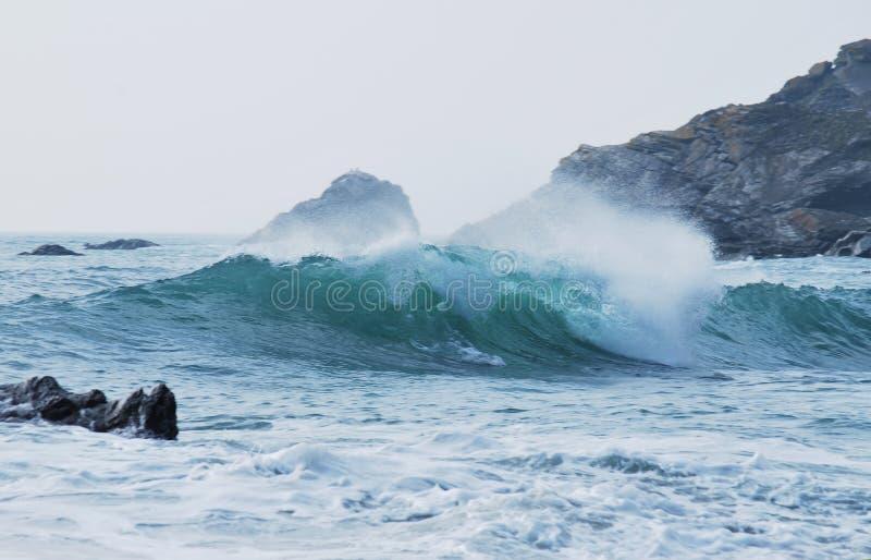 Sea waves royalty free stock photos