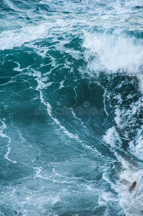 Sea waves during a storm. Minimalistic background royalty free stock images