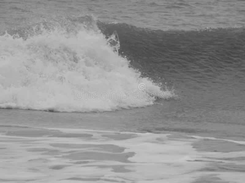 The sea white horses. Black and photograph of a wave with white horses royalty free stock image