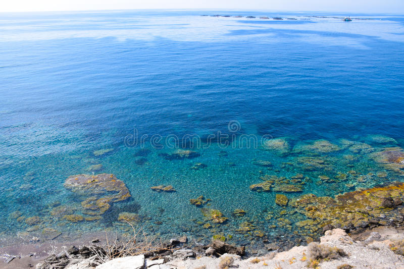 Sea wies with crystal clear water stock image