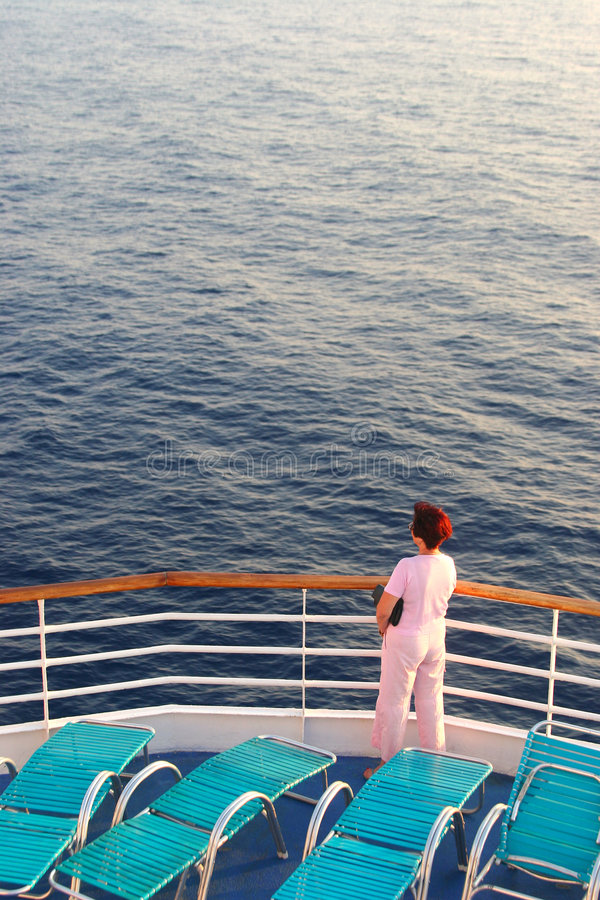 Download The Sea, The Woman, The Ship. Stock Images - Image: 1272084