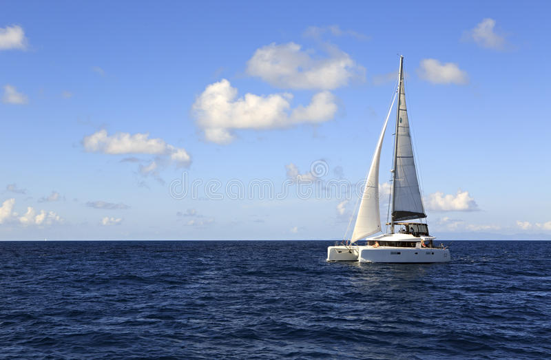 Sea yacht in the Indian Ocean royalty free stock image