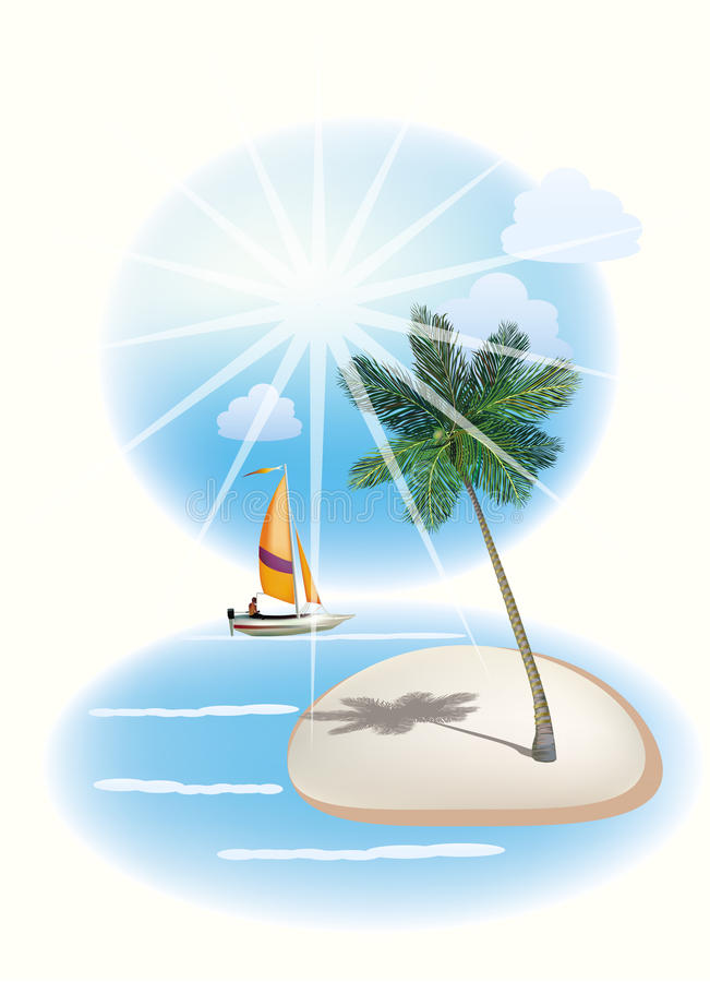 Download The Sea, Yachts, Palm Trees.Travel . Stock Image - Image: 30568975
