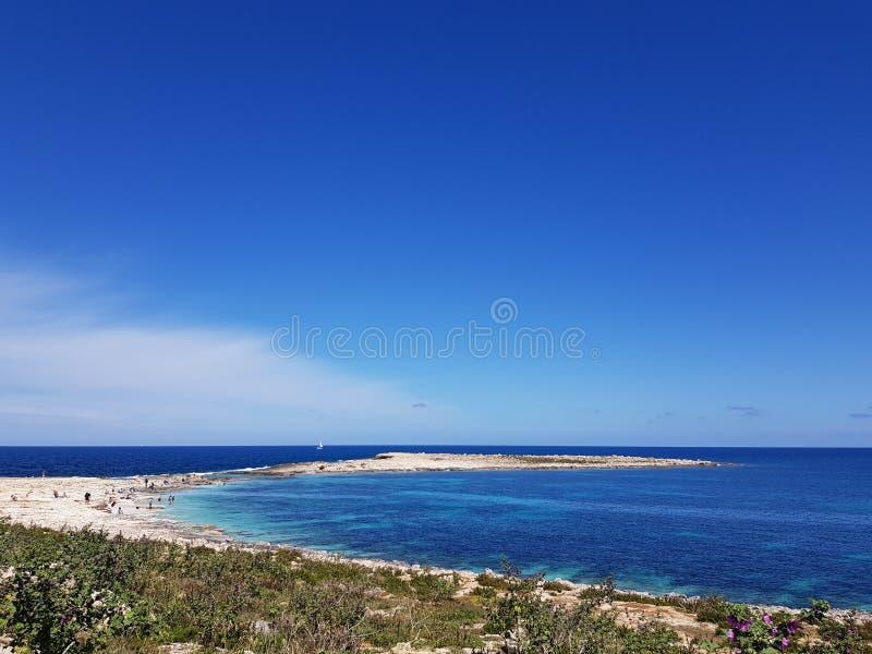 Seacape in Malta lizenzfreies stockfoto