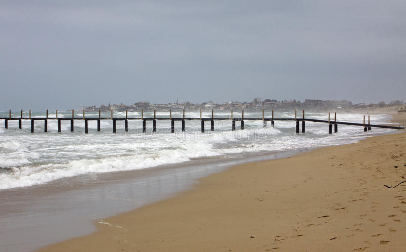seacoast śródziemnomorska zima zdjęcie royalty free