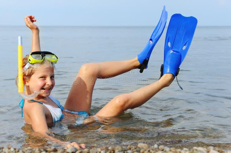 seacoast девушки стоковые фото