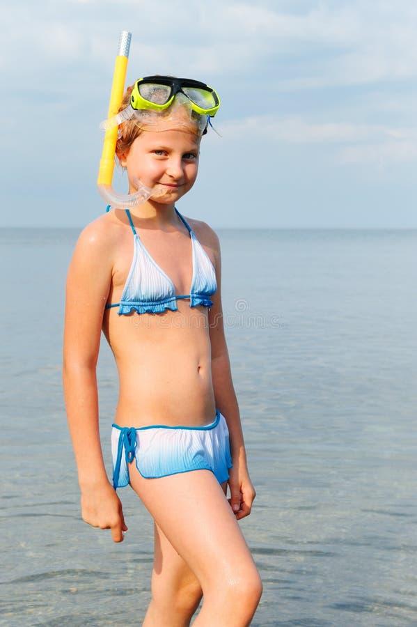 seacoast девушки стоковая фотография rf