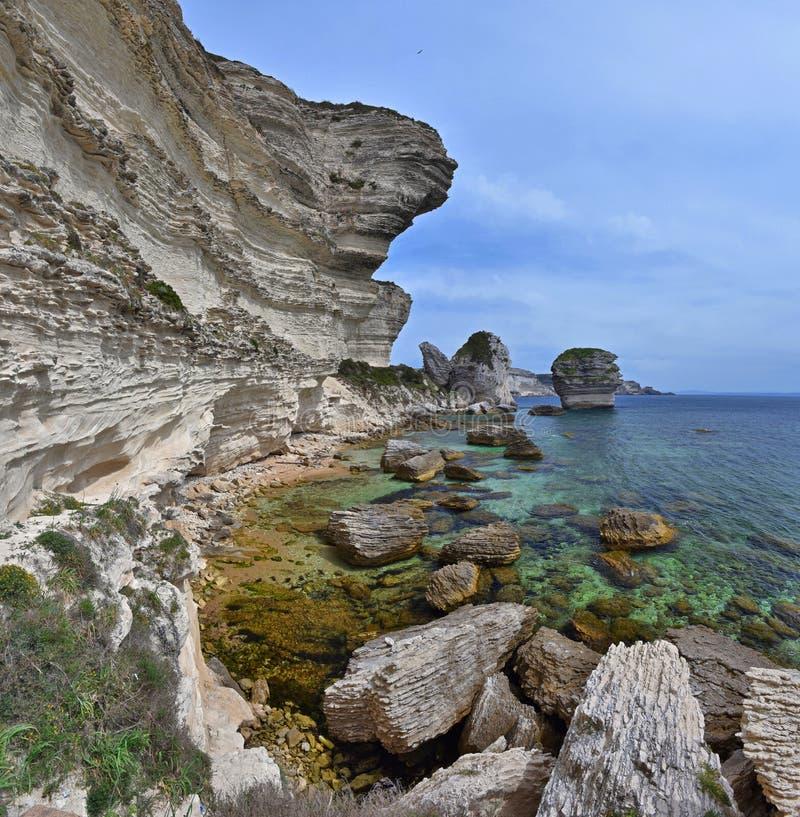 Seacoast blisko Bonifacio zdjęcie stock