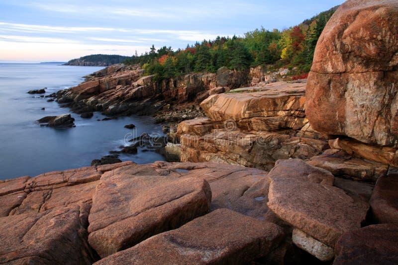 Seacoast do Acadia imagem de stock