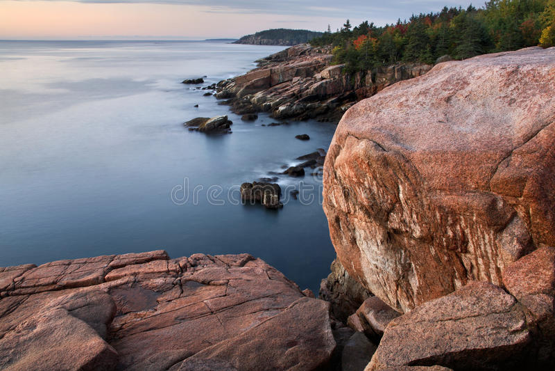 Seacoast do Acadia foto de stock