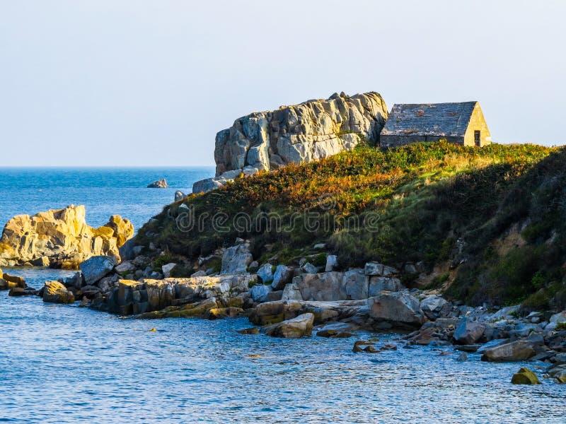 Seacoast na Guernsey wyspie obraz royalty free
