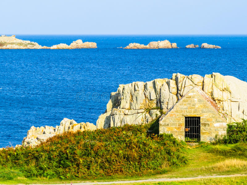 Seacoast na Guernsey wyspie fotografia royalty free