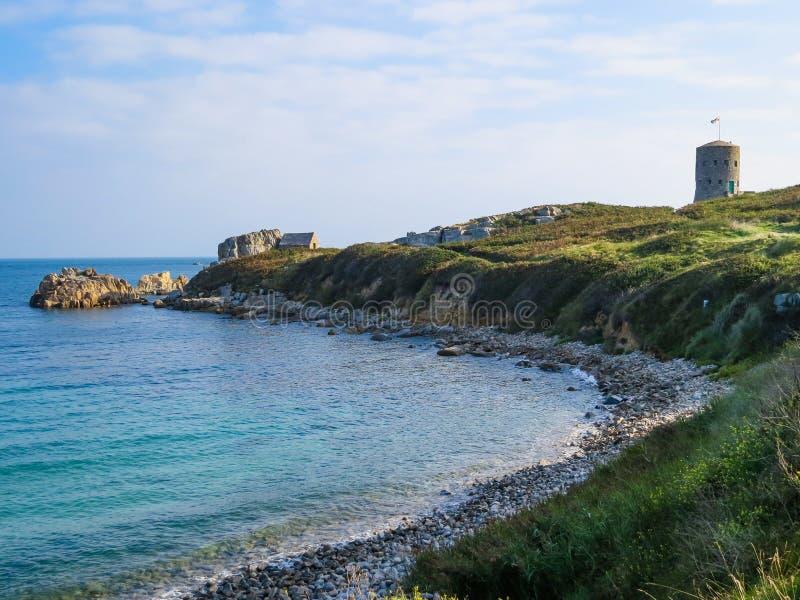 Seacoast na ilha de Guernsey fotos de stock