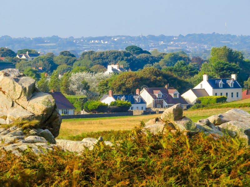 Seacoast na ilha de Guernsey foto de stock