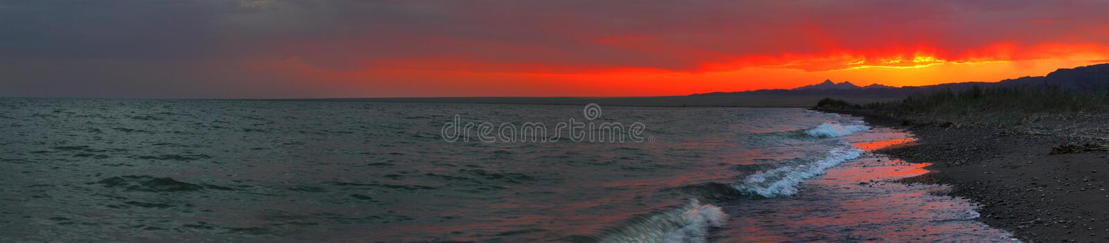 Download Seacoast panorama stock image. Image of color, amazing - 18714973