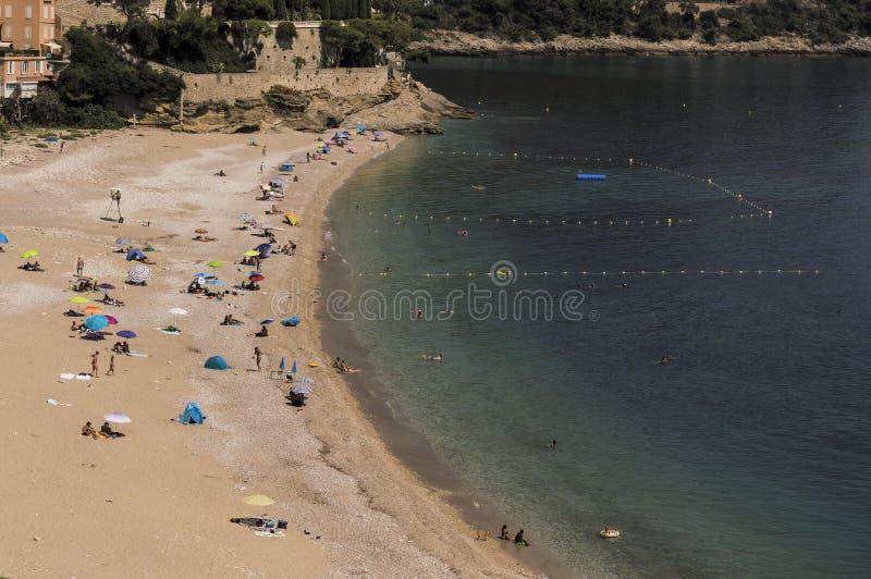 Seacoast Roquebrune nakrętka Martin w letnim dniu zdjęcia stock