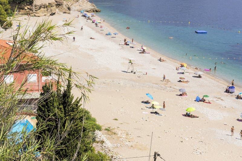 Seacoast Roquebrune nakrętka Martin w letnim dniu obrazy stock