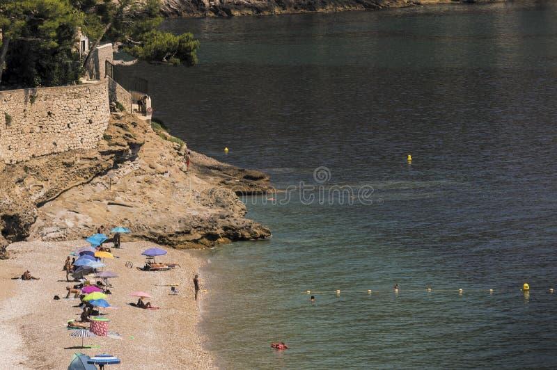 Seacoast Roquebrune nakrętka Martin w letnim dniu zdjęcie stock