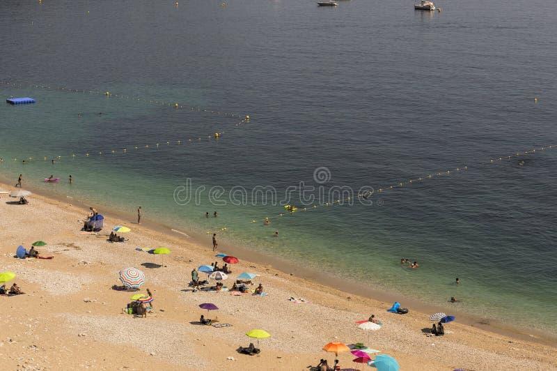 Seacoast Roquebrune nakrętka Martin w letnim dniu fotografia royalty free