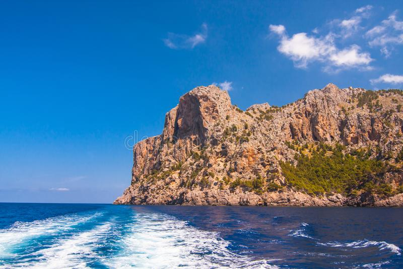 Seacoast wyspa Majorca Blisko nakrętki De Formentor zdjęcie royalty free