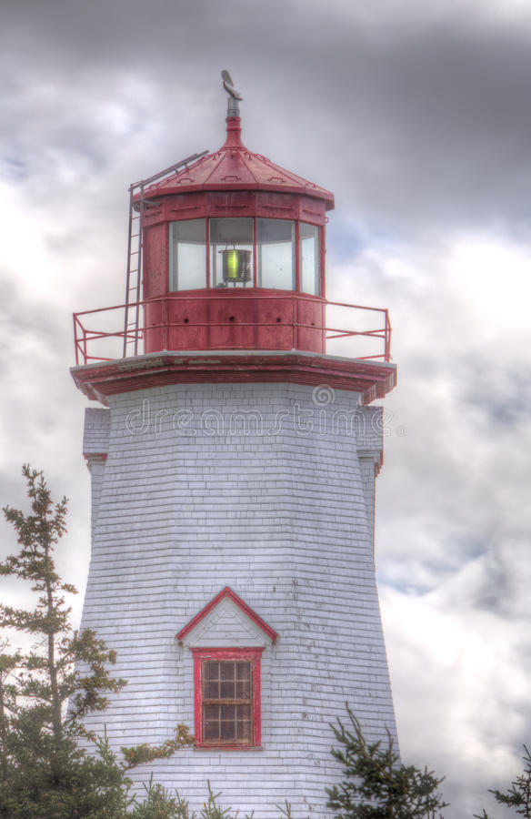 Seacow Head lighthouse, Prince Edward Island. Octagonal Seacow Head lighthouse, Prince Edward Island, Canada royalty free stock photography