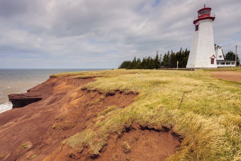 Seacow Head Lighthouse on Prince Edward Island. Prince Edward Island, Canada royalty free stock photography