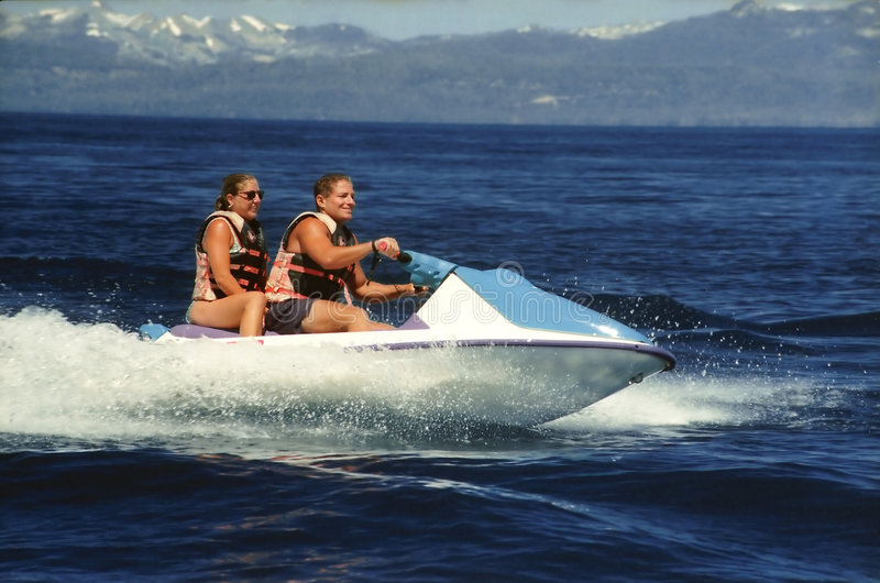 Seadoo with two riders. Seadoo water bike with two riders