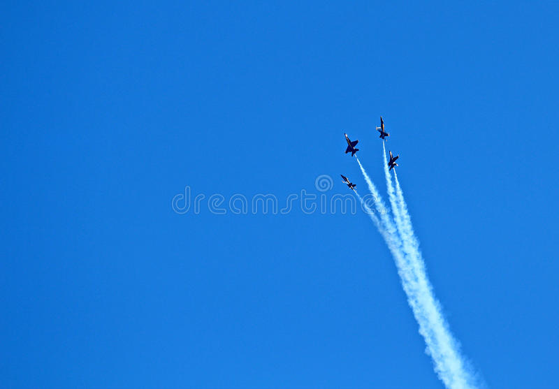 Seafair Blue Angels royalty free stock image