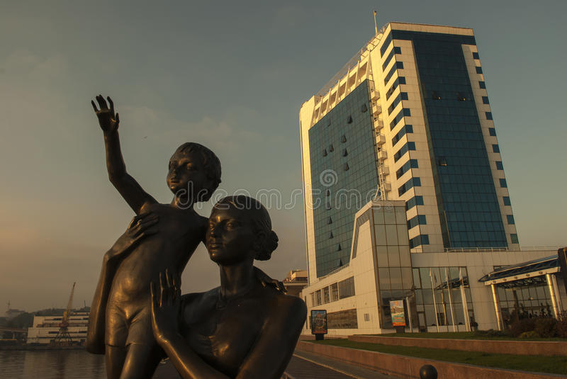 Seafarers Statue Odessa royalty free stock photography