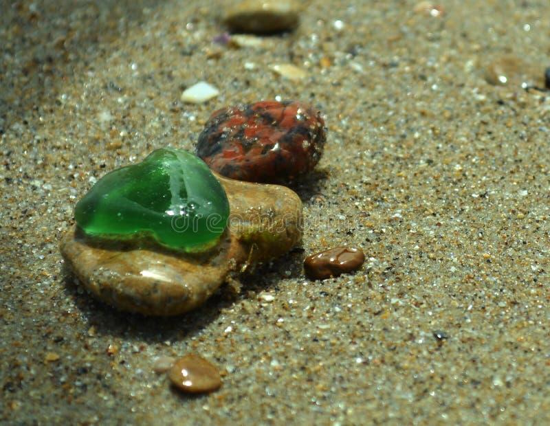 Seafinds, verre de couleur, pierre photo libre de droits