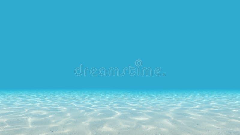 Seafloor med caustics stock illustrationer